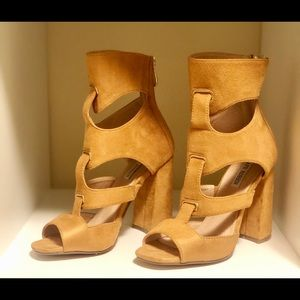 Nude Cut-Out Block Heels!